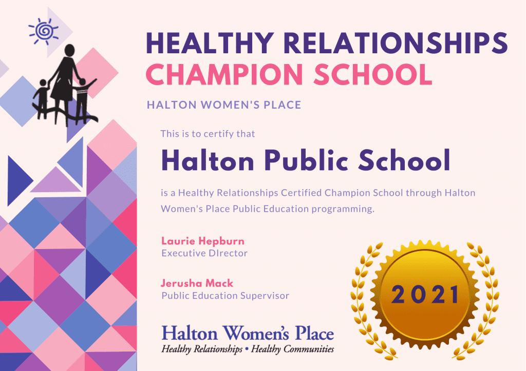 Champion School Certificate Example